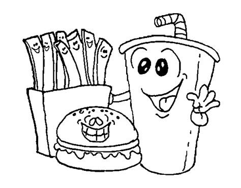 free coloring pages of food dish