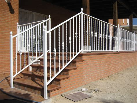 barandilla escalera exterior barandillas para escaleras de hierro y forja en madrid
