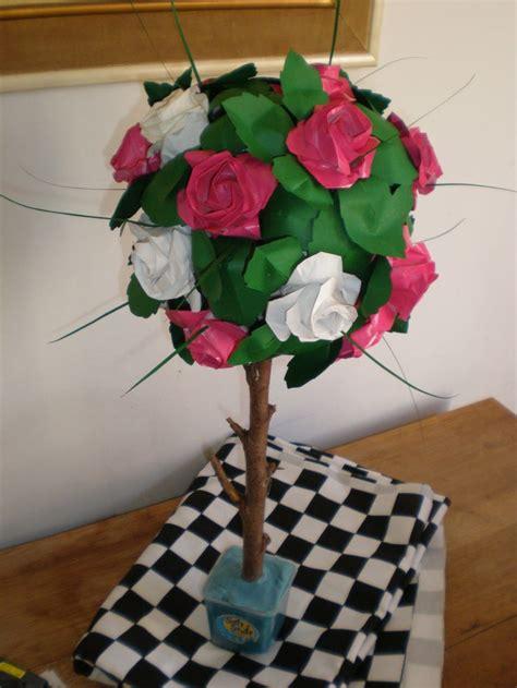 origami tree decorations in decor in