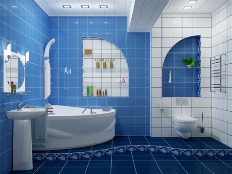 Blue Bathroom Tiles Ideas Modern Blue And White Bathroom Tiles Ideas And Decor Howiezine