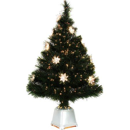 walmart christmas trees with lights time 32 pre lit starburst fiber optic tree clear lights walmart