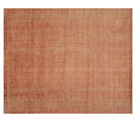 jacquard rug loomed jacquard rug blush pottery barn