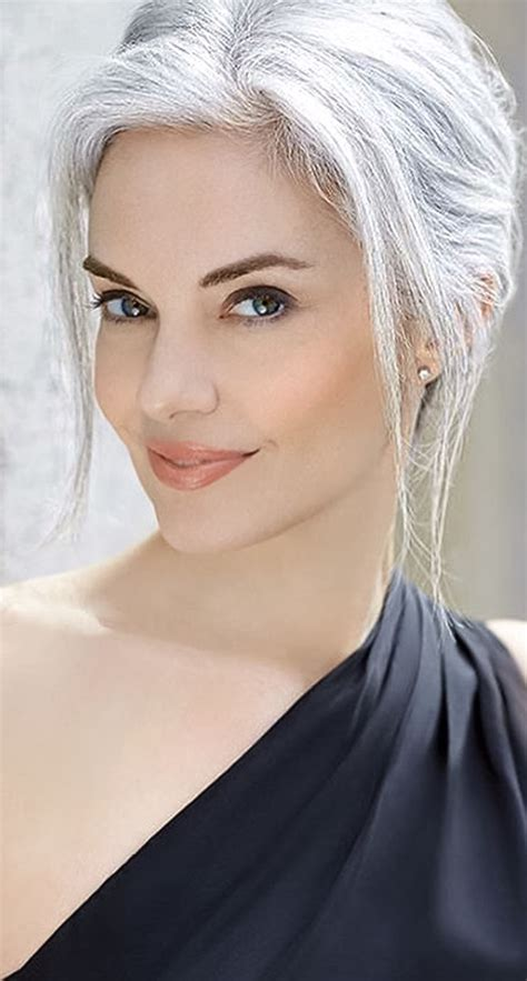 grey hairstyles for younger women grecian goddess pinteres