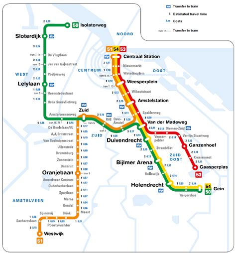 netherlands metro map amsterdam transport thingtodoin amsterdam