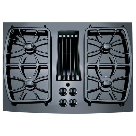 Glass Gas Cooktop Ge Profile 30 In Gas On Glass Gas Cooktop In Black With 4