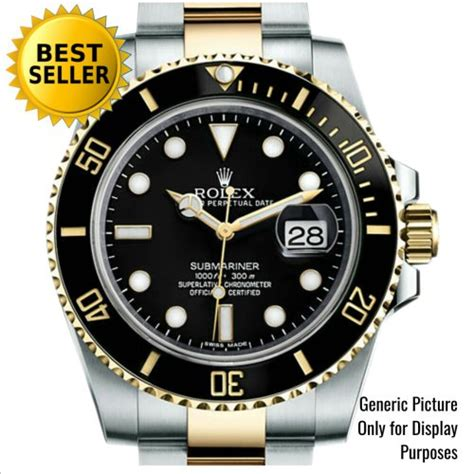 Jam Tangan Pria Rolex Submariner Ceramic Two Tone jual indo shop mirror coppy swiss eta 1 1 garansi