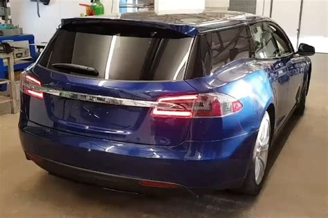 tesla wagons brits turned the tesla model s into a wagon and one could