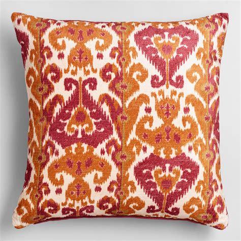 orange and pink taza throw pillow world market