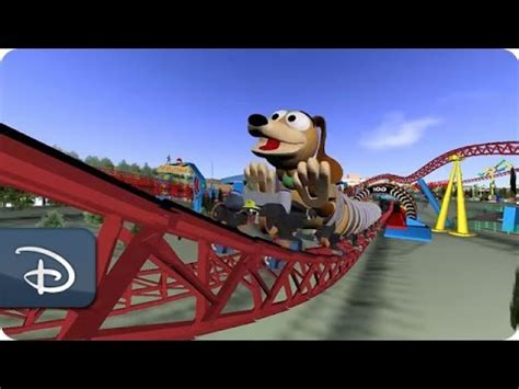 slinky dog dash attraction concept toy story land   walt