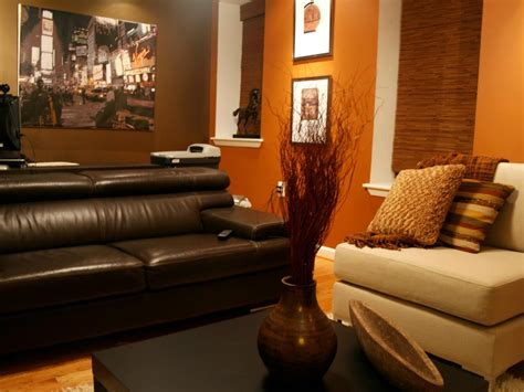 burnt orange and brown living room ideas orange living room photos hgtv