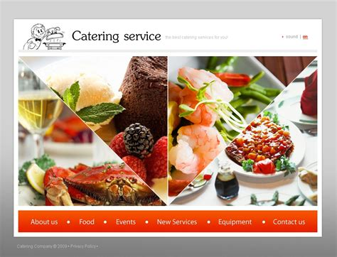 Catering Flash Template 23221 Catering Website Templates Free