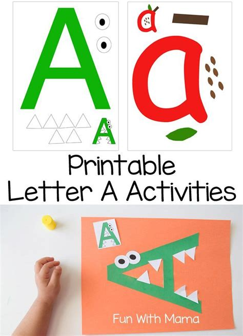 printable letter games letter a crafts and printable activities printable