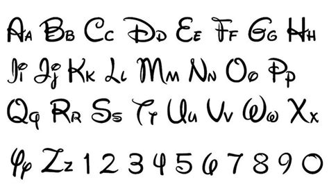 disney letter template 8 best images of walt disney font letter printables walt