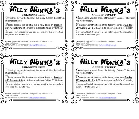 wonka template golden ticket template out of darkness
