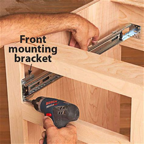how to install kitchen cabinet drawer slides how to install ball bearing drawer slides now for the cabinet