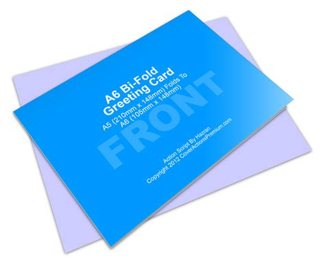 Bi Fold Greeting Card Template by A6 Greeting Card Mockup Cover Actions Premium Mockup