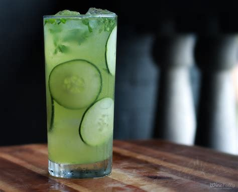martini mint cucumber mint drink