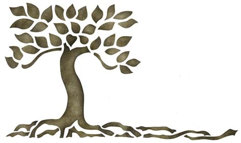 tree stencil template squat tree glass etching ideas stencil