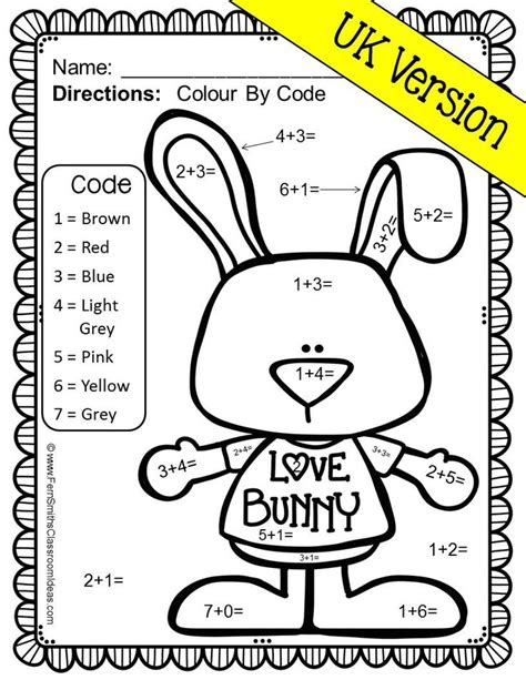 valentines coloring pages math color by number st valentine s day addition uk version