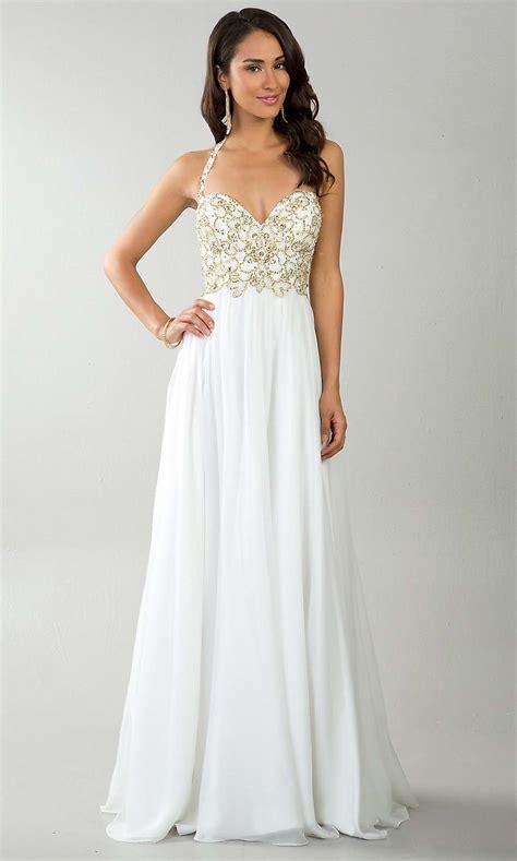 white prom dresses dressed up girl
