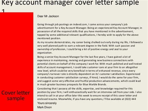 Reference Letter Key Account Manager key account manager cover letter