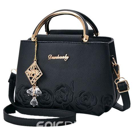 ericdress exquisite rose pendant embossing handbag