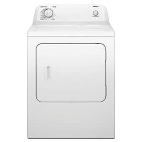 admiral 6 5 cu ft electric dryer in white aed4675yq