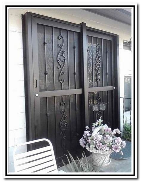 17 Best Images About Wrought Iron On Pinterest Sliding Iron Security Doors For Sliding Glass Doors