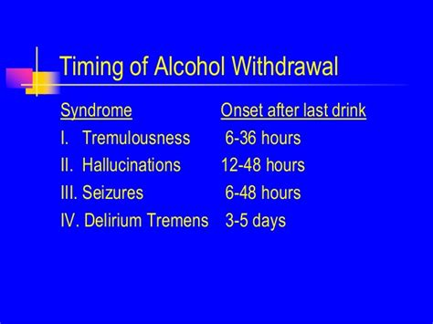 Detox Hallucinations by Hospital Management Of The Withdrawal