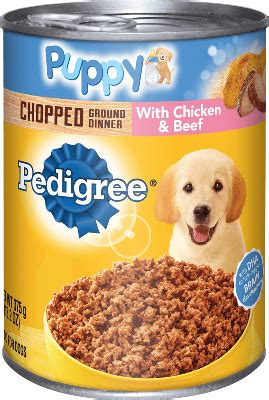 chicken canned puppy food | beef canned puppy food | pedigree®