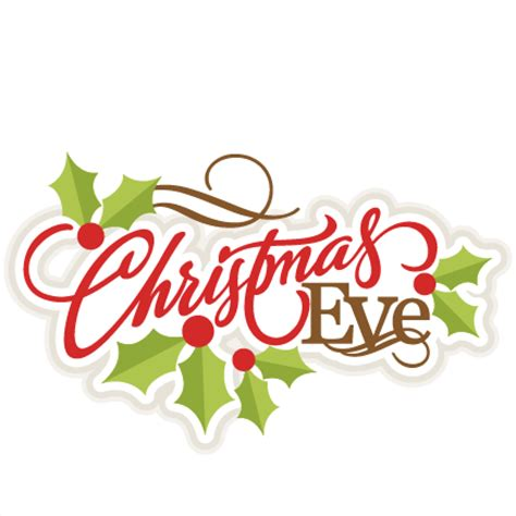 christmas eve title svg scrapbook title christmas cut outs