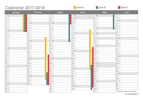 Calendrier 2017 Et 2018 à Imprimer Vacances Scolaires 2017 2018 Dates Icalendrier