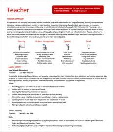 Resume Templates Teachers by 51 Resume Templates Free Sle Exle Format