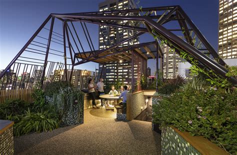 designing  roof garden  storeys high australian