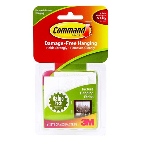 command 5 4kg white medium picture hanging strips 4 pack bunnings command command 5 4kg white medium picture