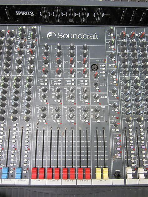 Mixer Soundcraft 32 Channel soundcraft spirit 8 32 channel mixer reverb