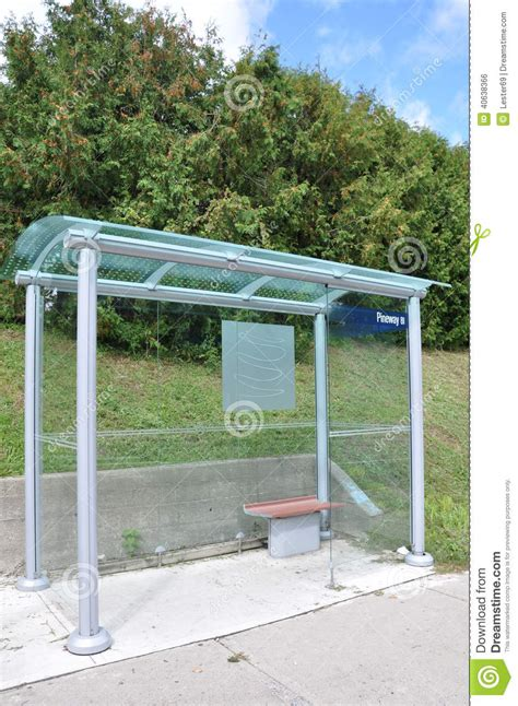 Waiting Shed by Glass Waiting Shed Stock Photo Image 40638366