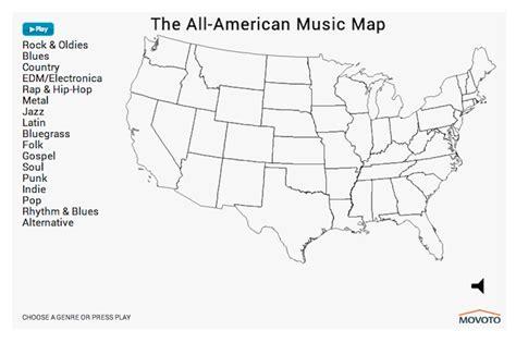 interactive map shows americas  preferences  genre