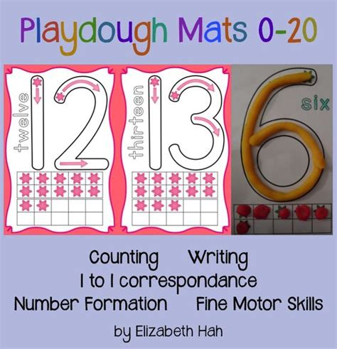 Playdough Number Mats by Playdough Mats Numbers And Counting Gaining Confidence