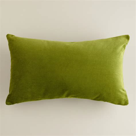 calla green velvet lumbar pillow world market