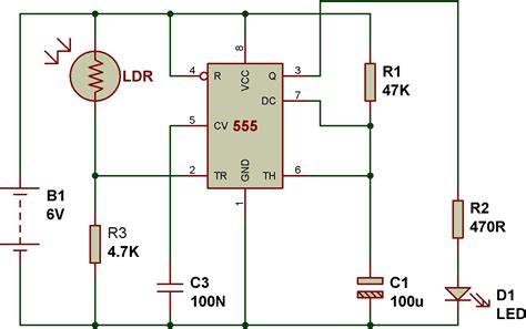 light sensor circuit using ldr mode of ne555 monostable buildcircuit electronics