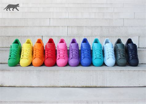 super colorful adidas x pharrell williams superstar supercolor pack