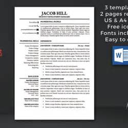 Instant Resume Template by Resume Template Instant Cv Template Professional Resume Template Cover Letter