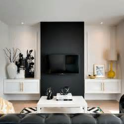 accent wall in living room black and white living room design ideas