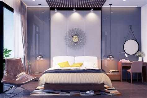 Grey Master Bedrooms With A Glimpse Of Color Master