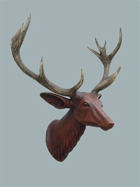 fiberglass 12 reindeer animal heads
