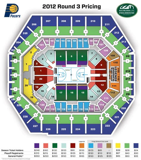 bankers fieldhouse seating chart with rows 2012 playoffs registration the official site of the