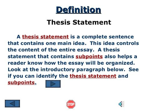 does a thesis to be one sentence help on thesis statement 1 the writing center