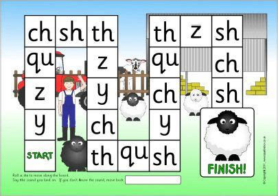 printable language arts board games y z qu ch sh th phonics board game sb6978 sparklebox