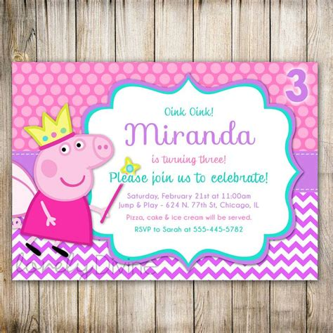 peppa pig invitations template 17 best images about invitaciones on birthday